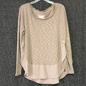 Anthropologie Deletta Dusty Taupe Sweater